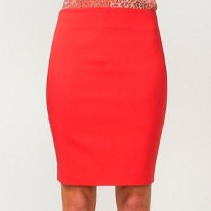 le chateau Pencil Skirt (sz 8, red)